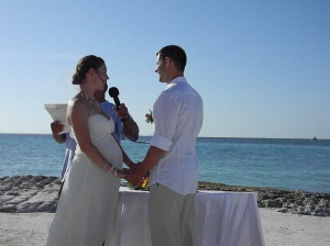 Kevin and Tricia taking their vows.