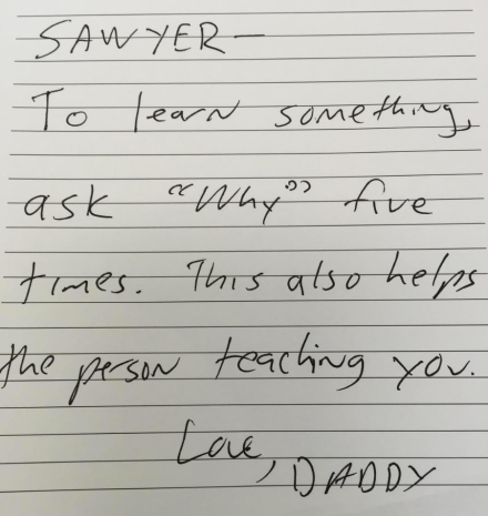 sawyer note
