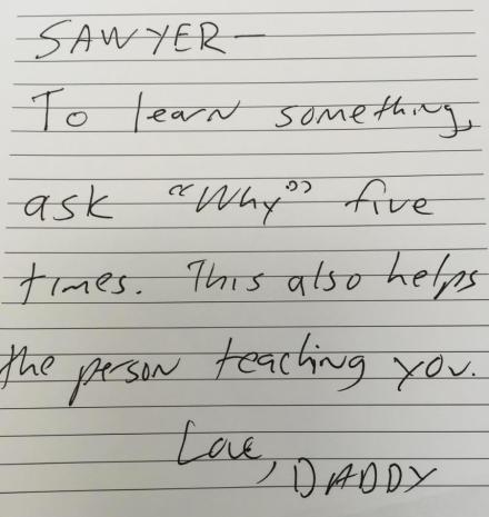 sawyer note